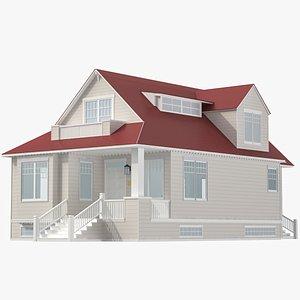 Family House 02 3D model