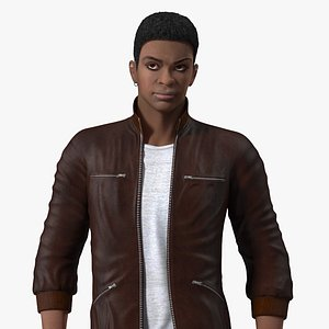 Young Man Light Skin Street Outfit Rigged for Maya 3D