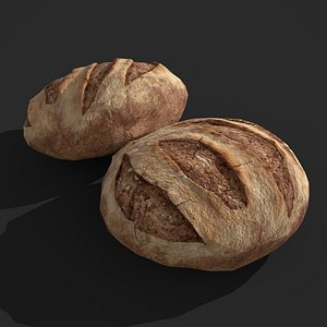 toasted bread 3D