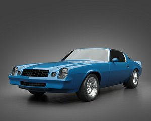 3D 1979 Chevrolet Camaro model