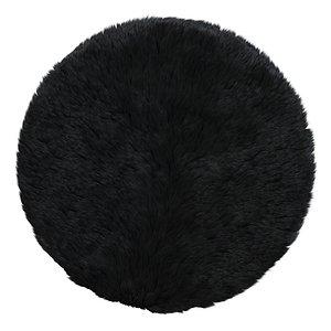 3D Luxurious black Wiesner rug model