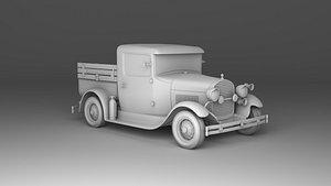 3D Ford Model A Fire Truck 1930 model