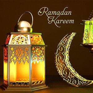 3D model ramadan kareem