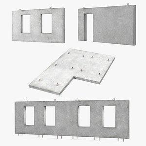 3D model concrete panels precast