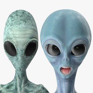 humanoid aliens rigged 3D model