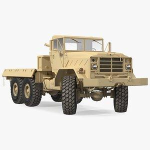 3D M939 Military Cargo Truck Light Rigged model