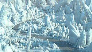 3D Winter Iceberg Road Environment