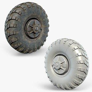3D Truck Wheel 04 BRDM
