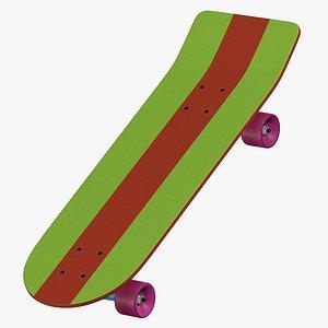 Santa Cruz Bart Simpson Skateboarding 8K 3D model
