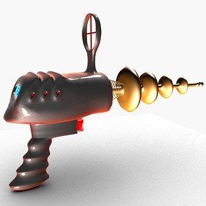 Toy laser gun 3D model