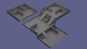 Game Map 3D model