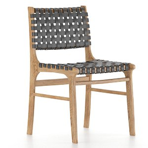 3D model woven leather dining chair