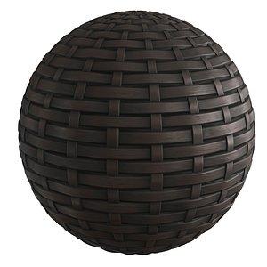 Brown Rattan Material 3D model