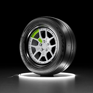 Car wheel TOYO PROXES RR tire with Rotiform ZMO 3D