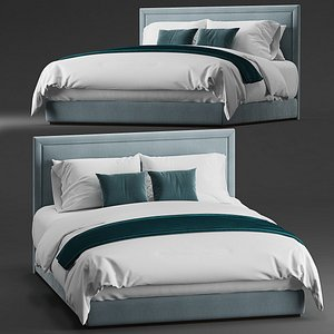3D Simple bed for hotel guestroom