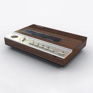 3D model vintage panasonic answering machine
