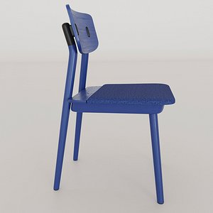 3D designed chair solid ash wood