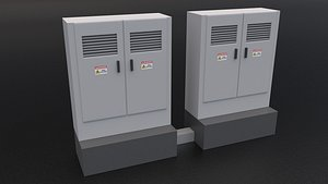 Electric Control Boxes 3D model