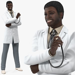 american man wearing lab model