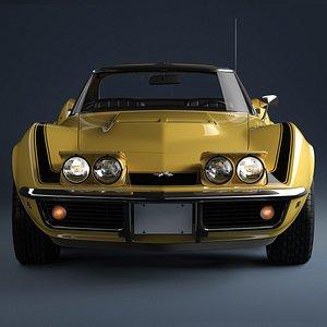 3D 1969 Chevrolet Corvette ZL1 427 model