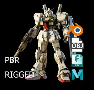 GUNDAM MK-II rigged with realistic texture 3D model