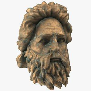 Poseidon Head Bronze model