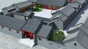 Chinese Courtyard House 03 model