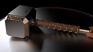 3D thor s hammer model