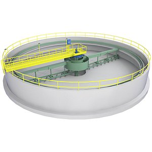 3D Circular Treatment Plant Low Poly Game 2