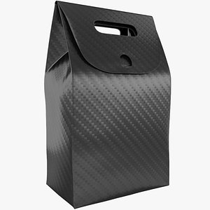 3D cardboard packaging black pack
