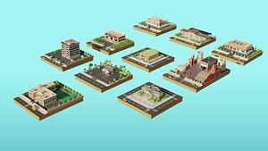 3D city building hospital model