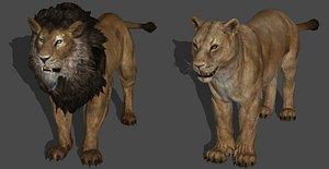 3D lion animal