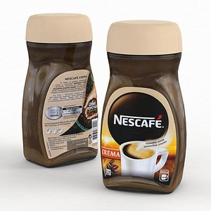 3D Coffee Jar Nescafe Crema 200g 2021 model