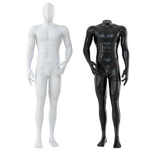 3D man mannequin shop model