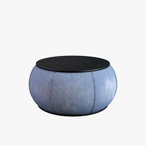coffee table denim 3D model