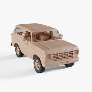 1978 Ford Bronco wagon 3D