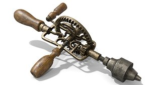 3D Old Hand Drill