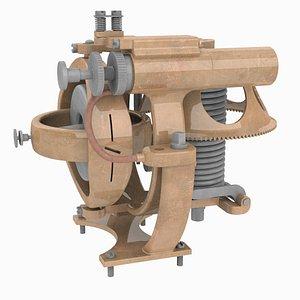 3D model Whitehead Torpedo Gyroscope 1893