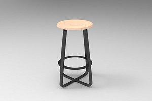 3D primi counter stool model
