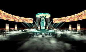 Stage Concert Stage Design Large-scale stage choreography New Year Eve music Festival National tid 3D model