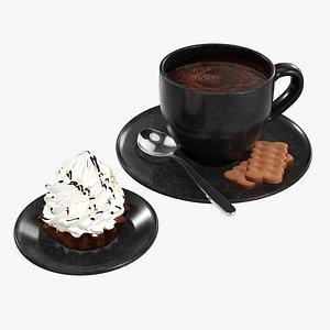 cup cupcake coffee 3D