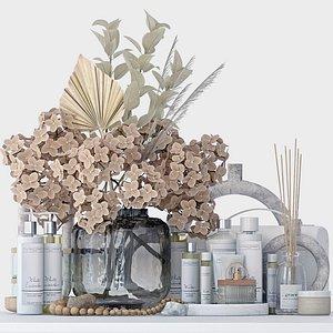 decorative bathroom set 3D model