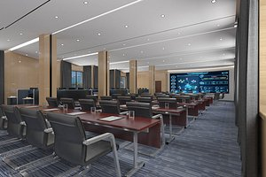 3D Conference room, big conference, lecture hall, lecture hall, multimedia conference room, multimedia model