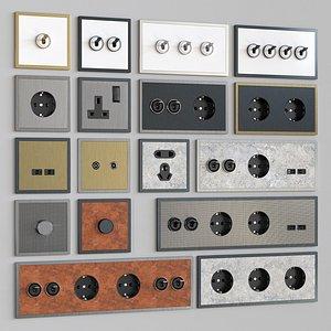 3D barcelona new design switches model