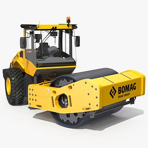 BOMAG BW226 DH5 Single Drum Compactor Clean Rigged 3D