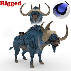 Blue Buffalo fully  Rigged 3D