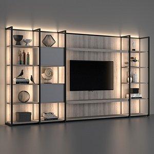 shelving bookcase cabinet model