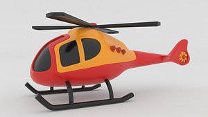 helicopter toy copter 3D model