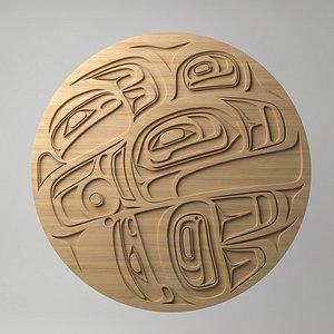 northwest coast art circular model