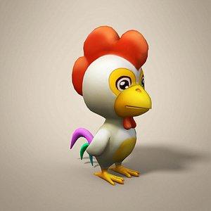chicken cartoon 3D model